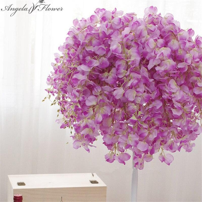 25pcs lot 69cm artificial wisteria silk decorative flower wedding Bouquet for home party decoration Hotel studio
