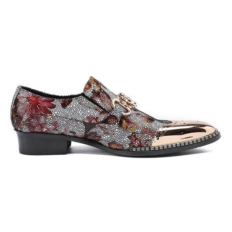 Brogue Dos Loafers Couro Multi Sl269 Genuíno Sapatos Salto Alto Em Rodada De Size Toe Homens Calçados Deslizamento colorido Esculpidos Partido Casuais Luxo Plus Mocassim Homem 0wXYnxgx