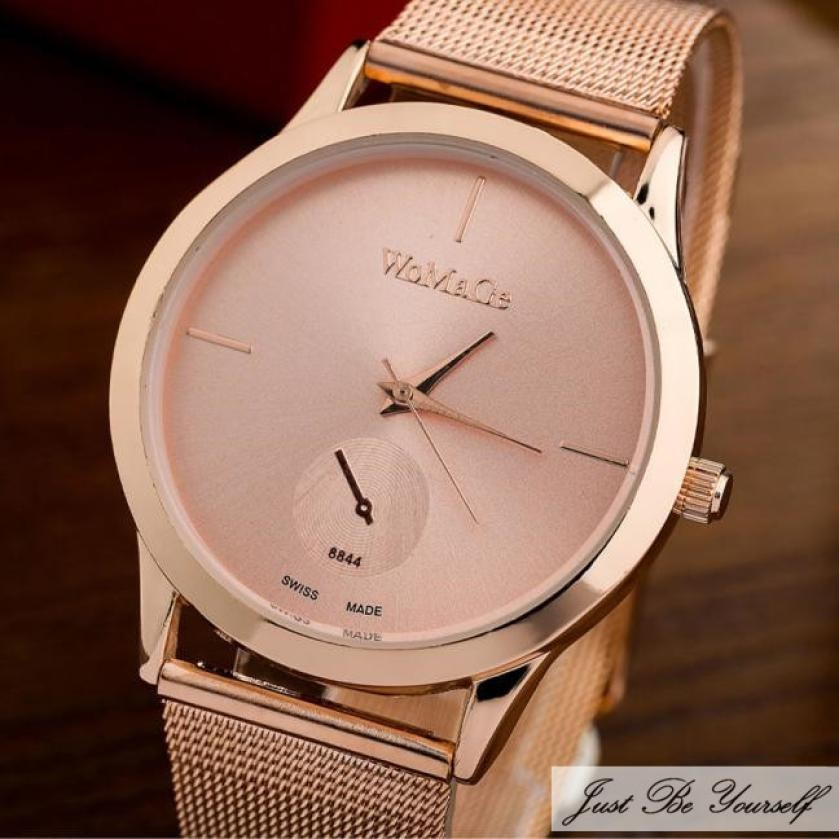 Fashion Alloy Women Watch Belt Watch Unisex Minimalist Style Quartz Watch Date Wristswatch Relojes MJasculino Drop Shipping