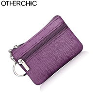 Genuine Leather Mini Change Coin Purse Women Card Holder Key Wallet Cute Card Holders Small Change