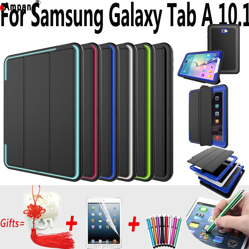 Magnet Smart Auto Sleep AWake Case for Samsung Galaxy TabA 10.1 T580 T585 Trifold Stand Cover for Samsung Tab A 10.1 Case new big size 40 40cm blocks diy baseplate 50 50 dots diy small bricks building blocks base plate green grey blue
