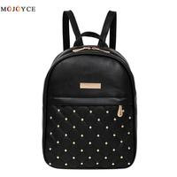 Women Backpack Hot Sale Fashion Causal Bags High Quality Bead Female Shoulder Bag PU Leather