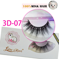 Free shipping fashion style new arrival 3D 3D-07 premium handmade 100% real siberian mink strip eyelashes