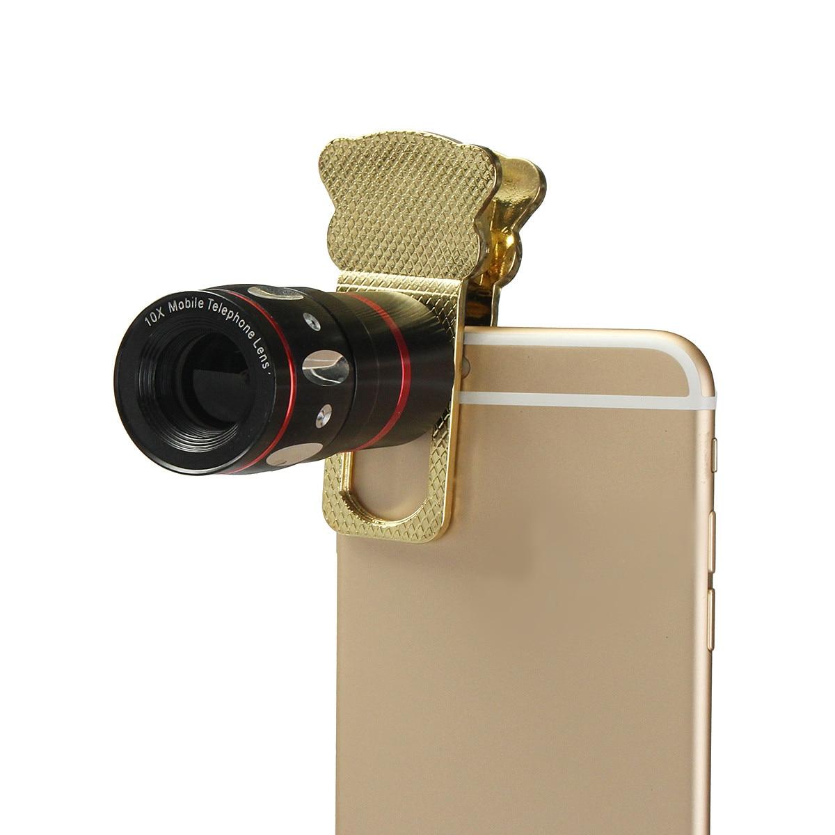 Открытый HD Универсальный 10x увеличить клип на мобильный телефон оптический Объективы для фотоаппаратов телефото телескоп