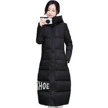 2017 Новая мода Зима Женщины Пальто Элегантный Парки Толстые Теплые с капюшоном Куртки Хлопка Высокого качества Большой размер Женщин длинное Пальто 2L24