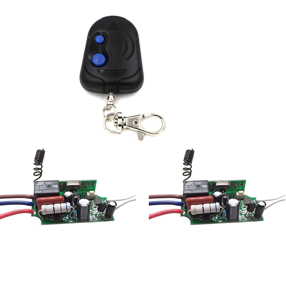 Newest Wireless ON/OFF 1 Ways 220V Lamp Remote Control Switch Receiver and Transmitter for Smart Home 315/433mhz Hot Sale