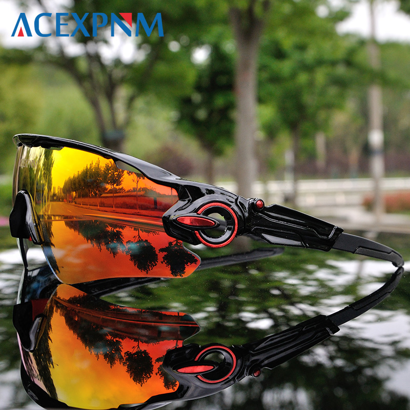 TR90 Outdoor Sports Cycling Goggles Polarized Cycling Glasses Mountain Road Bike Cycling Eyewear Men Cycling Sunglasses 3 Lens