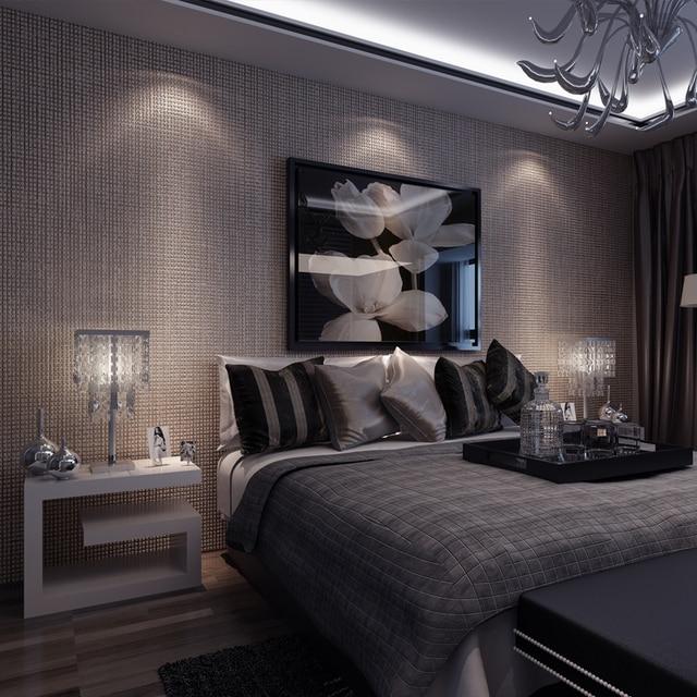 Reine Farbe Striped Wallpaper 3D Geprägte Schlafzimmer Wohnzimmer ...