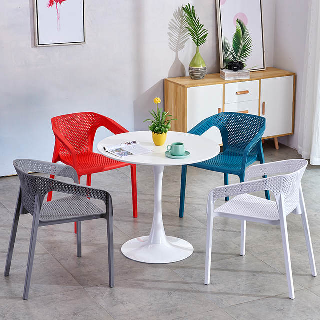 €109.02  Nueva mesa de comedor minimalista moderna pequeña mesa redonda  oficina de ventas para negociar recepción escritorio Mesa Redonda de  café-in ...