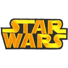 2Pcs Star Wars Comics Cartoon Logo Kid Baby Jacket T shirt Patch Sew Iron on Embroidered Symbol Badge Cloth Sign Costume(China)