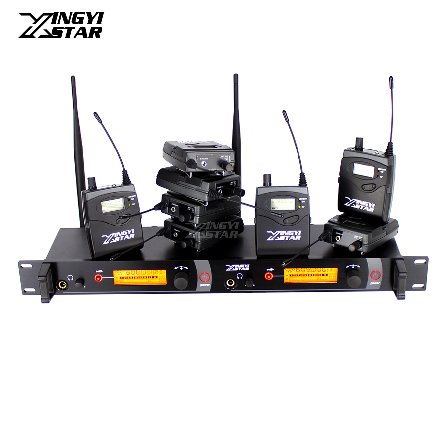 Wireless In Ear Monitor Professional Stage Monitoring System 8 Bodypack Receiver With Cordless Transmitter Monitors in Earphone wireless pager system 433 92mhz wireless restaurant table buzzer with monitor and watch receiver 3 display 42 call button