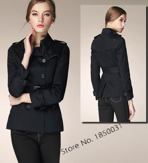 European Style Trench Coat for women casual OL work wear short