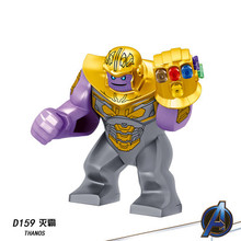 Marvel Avengers Infinity War Blocks Thanos Gloves Spider Man Hulk Gauntlet Figures For Children Model Toys