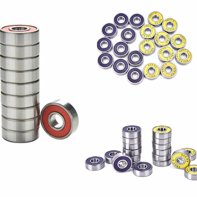 10 Pcs Red blue yellow ABEC 9 Stainless Steel Bearings High Performance Roller Skate Scooter Skateboard Wheel