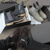 Luxury Brand Hip Hop Dancing Party Dress Shoes Fashion Kanye Chelsea Boots Genuine Leather Trainers Personality