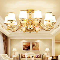 Individuality Iron Jade Living Room Lamp Exhibition Hall Sales Center Led Ceiling Light Modern Bedroom Restaurant