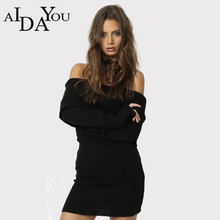 2019 New pattern All match Sweater Slim Slash neck Solid  AIDAYOU Keep warm everyday wear ouc1892