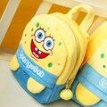 Nuevo 2015 bob esponja felpa mochilas niños bolsas de hombro pequeñas bolsas escolares Backpakcs envío gratis NT126SpongebobE