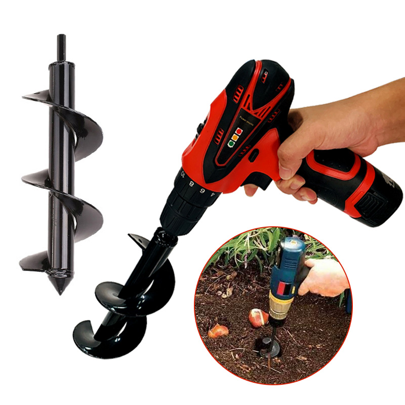 NEW Garden Auger Spiral Drill Bit Earth Auger Hole Digger Tools Irrigating Planting Machine Drill Bit Fence Borer Garden Tool