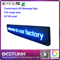 outdoor led meesage sign supply p10 32*192 pixel single blue led programmable sign for taxi top advertising moving text led