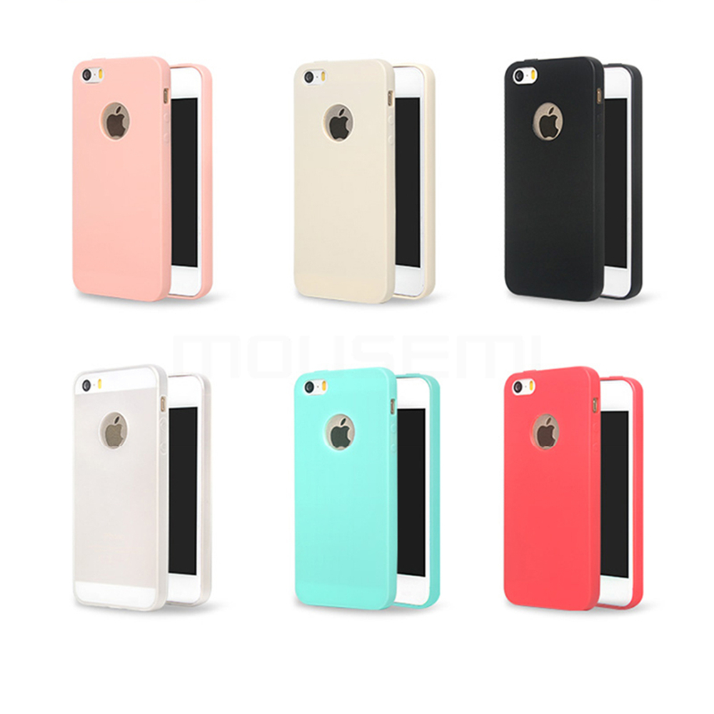 MOUSEMI Phone Cases Silicone 5S se For iPhone Case Candy For iPhone 5s se 5 Case Cute Silicone Pink Soft Luxury Matte Coque 5s 5 (2)