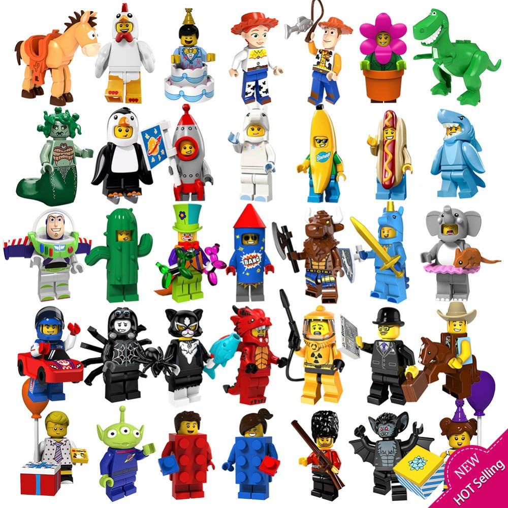 Toy Storyingly 4 Batman Banana man Buzz Lightyear Woody Rex Building Block toys for children compatible action toy