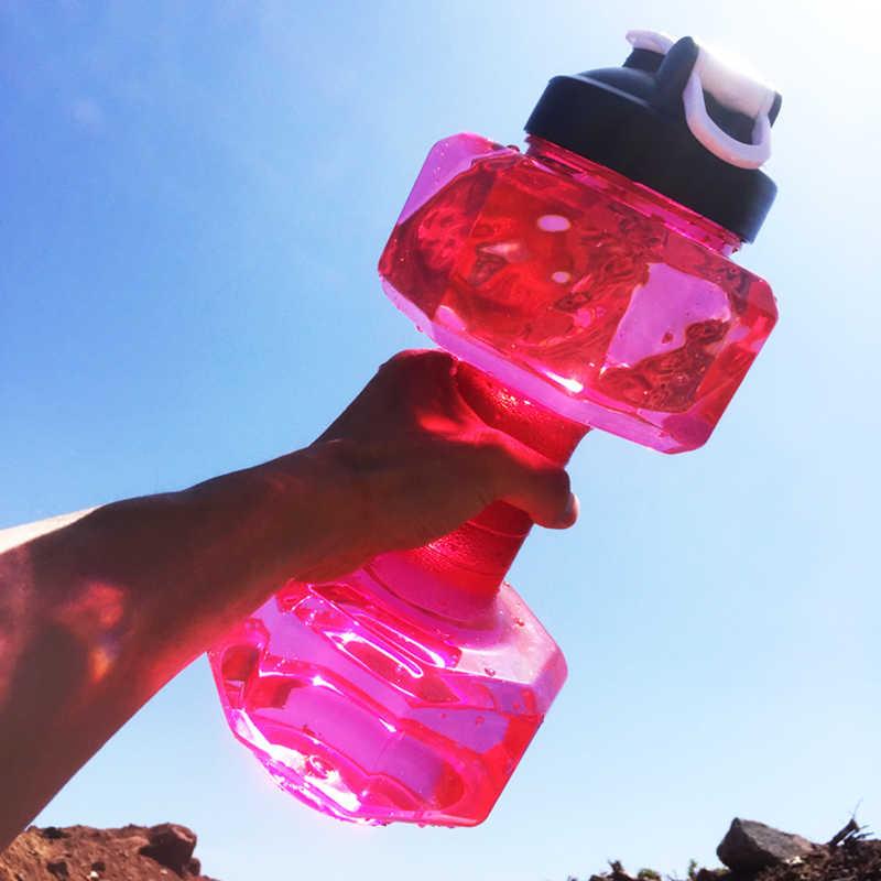 2.2L гантели пластиковые большой емкости спортзал Спорт вода открытый фитнес-велосипед Кемпинг велосипедная бутылка фитнес для мужчин