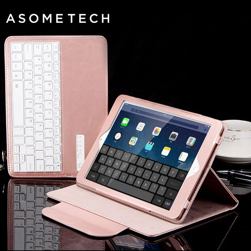 For Ipad MINI 1 2 3 4 Wireless Bluetooth 3.0 Keyboard PU Leather Cover Protective holder stand Case For ipad Mini Fundas Capa