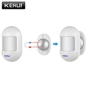 Image 3 - KERUI Mini alarma de Sensor de movimiento PIR inalámbrico, Detector con base giratoria magnética para sistema de alarma de seguridad para el hogar G18 W18