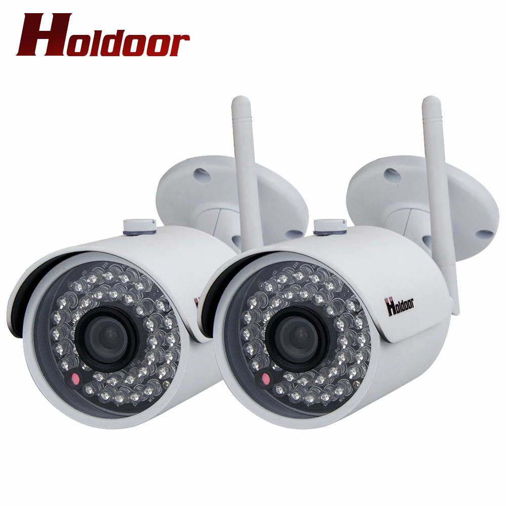 2 pcs Outdoor Waterproof Bullet IP Camera Wifi Wireless Surveillance Camera with Memory Card slot CCTV Camera Night Vision bullet camera tube camera headset holder with varied size in diameter