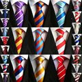 Factory Seller 8cm Men's Classic Tie 100% Silk 2 Color components Wide Stripes cravatta multi-color Ties Man Bridegroom Necktie