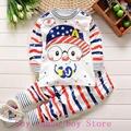 2016 Las Gafas muchacho de Los Niños ropa interior de algodón puro cuello redondo botón de hombro traje long Johns baby baby ropa interior privado