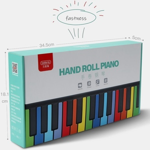 Image 5 - Beiens Portable 49 Keys Digital Keyboard Roll Up Piano Silicone Electric Hand Piano Gift for Kids Child Toy Musical Instruments