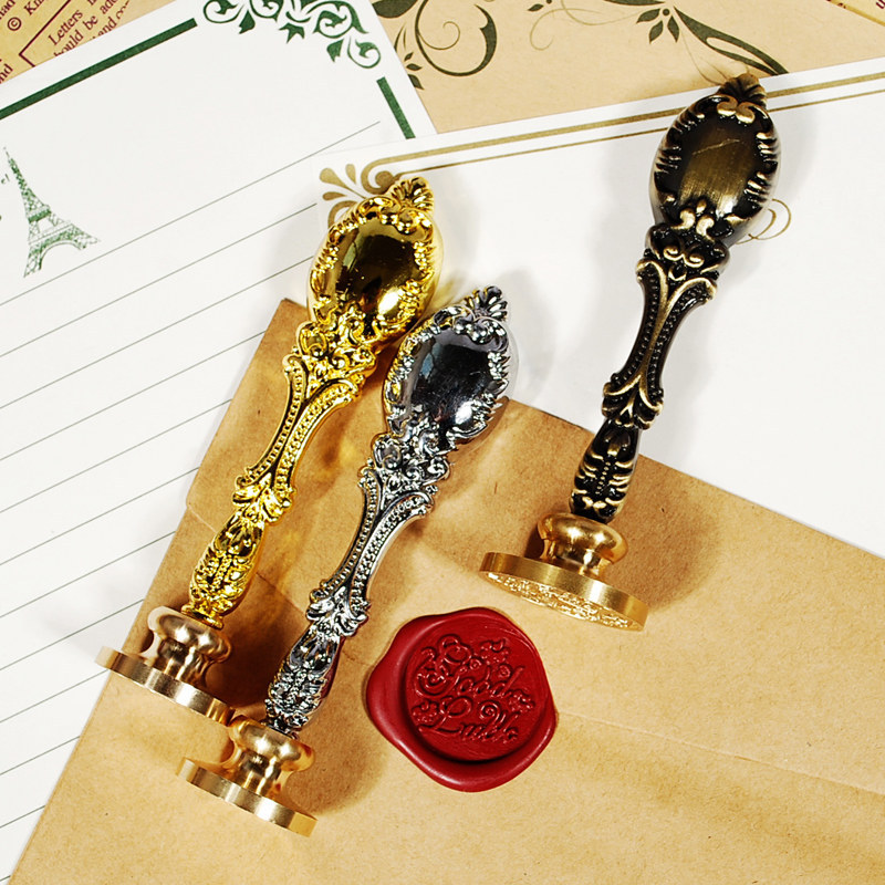 1pc Luxurious Noble Wax Seal Stamp Metal Handle Without Copper Head DIY Wedding Invitations Personal Logo Gifts