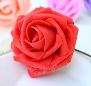 500 шт. X(6 см) один Пена розовыми цветами стволовых в 12 различных Цвета для выбора свадебные цветы.* по EMS - Цвет: RED