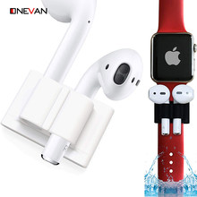 for Apple iWatch AirPods Earphone Accessories Anti-Lost Wireless Headphone Silicone Holder Clip for Apple Watch 5 4 3 Band Strap(China)