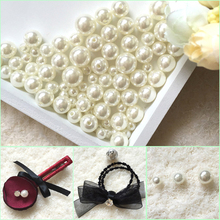 цена на 1000PCS Round ABS Imitation Pearl Beads White pearls for crafts DIY Wedding Bracele Bouquet Decoration Jewelry Finding Accessory