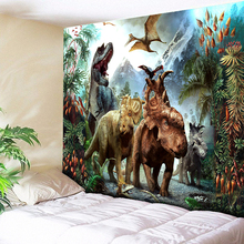 Anime Dinosaur Tapestry Wall Hanging Light-weight Polyester Fabric Psychedelic Hippie Kid Bedroom Bedside Sheets