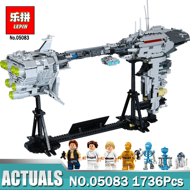 DHL Lepin 05083 STAR Classic MOC Series The Nebulon-B Medical Frigate Set Building Blocks Funny Toys Legoinglys WARS lepin 05083 star legoing moc series the nebulon toy medical frigate set wars building blocks brick toy for children gift toys