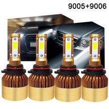 1 par/caixa 9005 + 1 par/caixa 9006 de Ouro S2A 72 w 6000LM Combinação Faróis Do Carro Farol Alto/ baixo Feixe 6000 k Branco Puro 6000 k