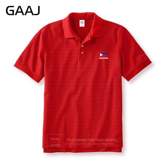 GAAJ Philippines Flag Polo Shirts Men & Women Unisex High Quality Brand Cotton Man Polos Plus Size Brands Homme Mens #5NY76