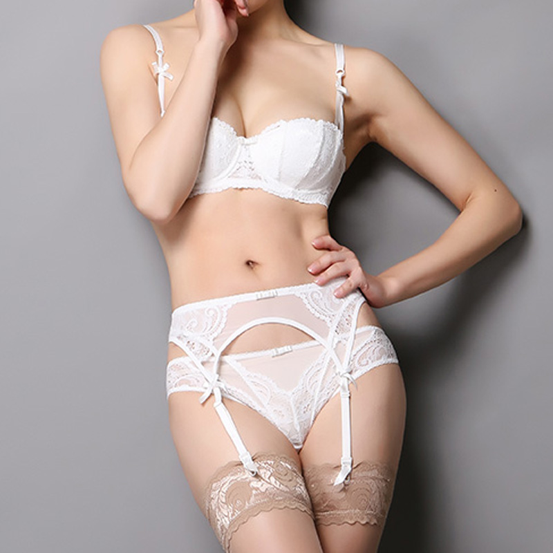 e3f3ec885d1 Sexy Lace Embroidery Stocking Garters Belt For Women Stocking Suspender Belt  Wedding Garter Belts White Black Red