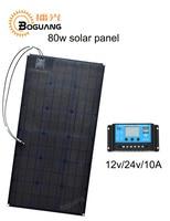 Boguang 80 Вт солнечные панели ETFE монокристаллического ячейки модуль PCB MC4 разъем 10A контроллер 12 В батареи светодио дный колесах yacht питания