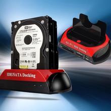 Dual Port 2.5″/3.5″ inch IDE SATA HDD Disk Dock Docking Station Base Stand EU Plug
