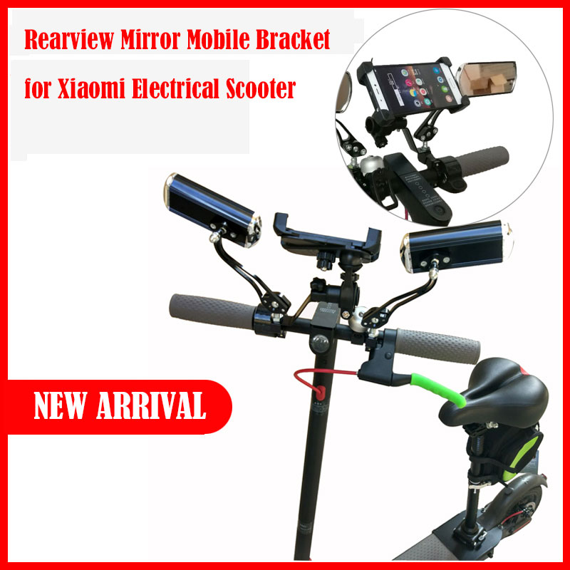 M365 Xiaomi Mijia M365 Electric Scooter Rearview Mirror and mobile bracket for Xiaomi Electric Skateboard accessaries  DIY