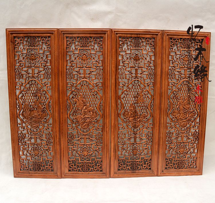 Classical Chinese style living room wall carving Pendant camphor wood carving The Eight Immortals Crossing the Sea four screen b рыболовная сеть the eight immortals 33 10