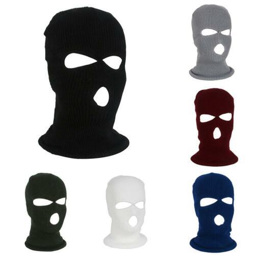 Image 2 - Армейская тактическая маска, 3 отверстия, маска для лица, лыжная маска, зимняя шапка, Балаклава, капюшон, мотоциклетный шлем, полный шлем для лица, Новинка-in Мотоциклетная маска from Автомобили и мотоциклы on AliExpress