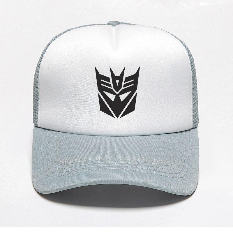 d908b8634 US $3.23 30% OFF New Print Transformers Autobots Decepticons Baseball Cap  Robot Optimus Prime Hat Snapback Trucker Dad Hat Women Men Hiphop Cap-in ...