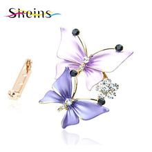 Designed Butterfly Crystal Brooch For Women