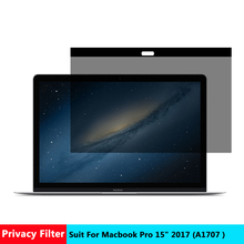 Vmonv Magnetic Privacy Filter Screens Protective Film for New Macbook Pro 15 2017 Inch for